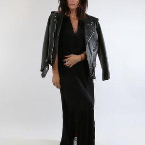 A.L.C. Black High Slit Sleeveless Maxi Dress